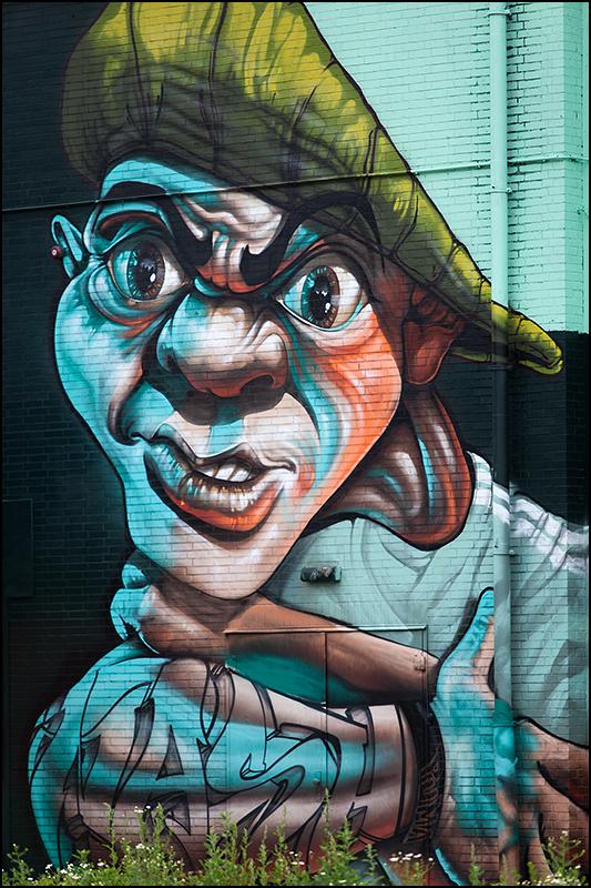 """Graffiti """"Area 51"""", Strijp, Eindhoven"""